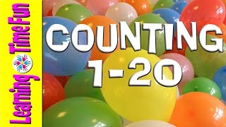 COUNT 1-20 with BALLOONS | Numbers 1 to 20 | Numbers in English | Kindergarten | Pre School