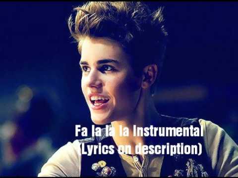 Justin Bieber - Fa la la la instrumental (With Lyrics)