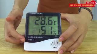 Hướng dẫn cài đặt và sử dụng nhiệt ẩm kế điện tử HTC-1