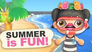SUMMER is FUN in Animal Crossing New Horizons