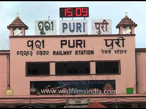 LED Ticker Displaying Time At Puri Railway Station, Odisha