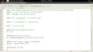 MATLAB Help - Polynomial Interpolation