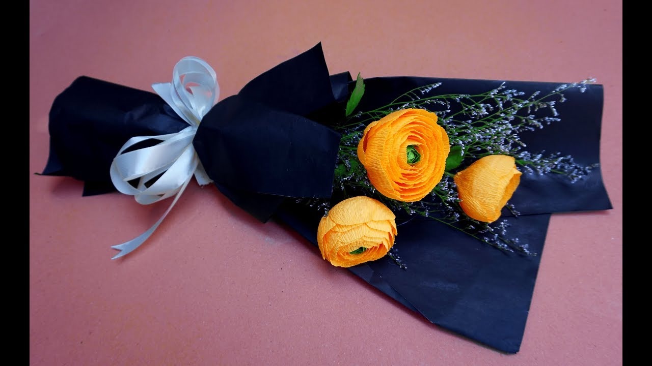 How To Make Paper Flower Bouquet At Home Beautiful Bouquet For