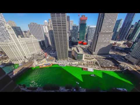 Dyeing of the River Chicago 2017 - Greening of the River for St. Patrick