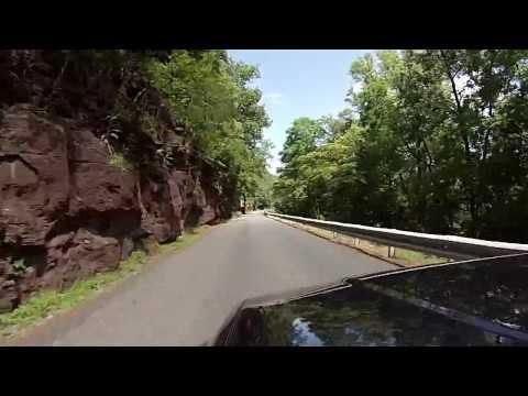 Scenic drive along Delaware River near Milford, NJ
