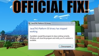 How To Fix Minecraft Java Not Responding (2017) | JAVA'S OFFICIAL FIX!!!