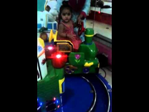 Aadritha riding train