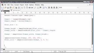 Beginner PHP Tutorial - 158 - Protecting Email with String to Image Part 2