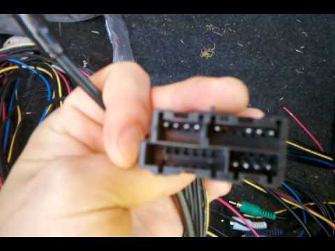 94 cadillac deville active stereo bypass harness - YouTube