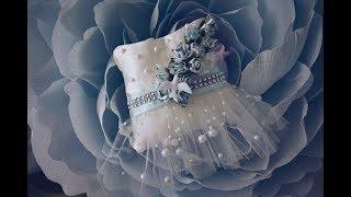 свадебная подушечка для колец своими руками.