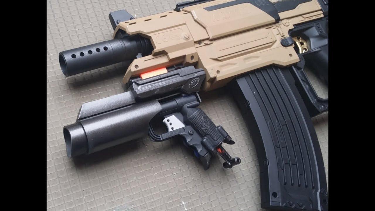 Homemade Nerf Grenade Launcher Attachment Jolt Modulus