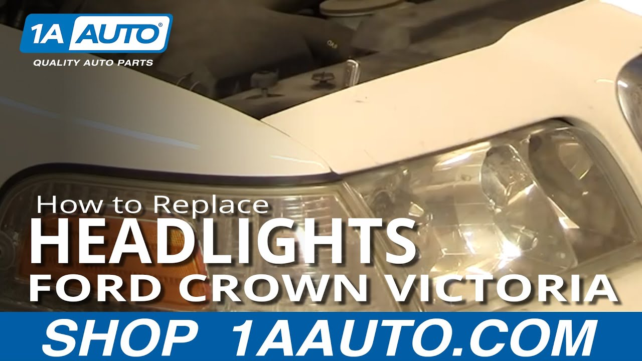 how to replace headlight 98 11 ford crown victoria [ 1280 x 720 Pixel ]