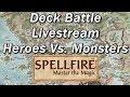 SPELLFIRE, MASTER The MAGIC Episode 10 | Forgotten CCGs | Monsters Vs. Heroes Game Battle Livestream