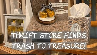 Thrift Store Haul/ Farmhouse Décor/ Trash to Treasure