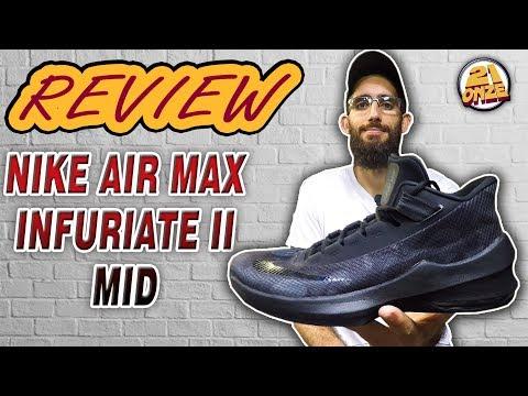 Análise Tênis NIKE AIR MAX INFURIATE 2 MID (Review NIKE AIR