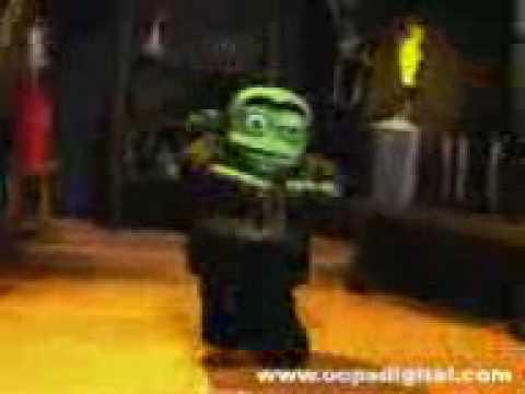 3d monstro dançando