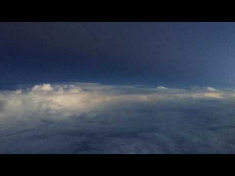 Time-lapse   Atlantic storm front   lightning, filmed by pilot at 47,000ft