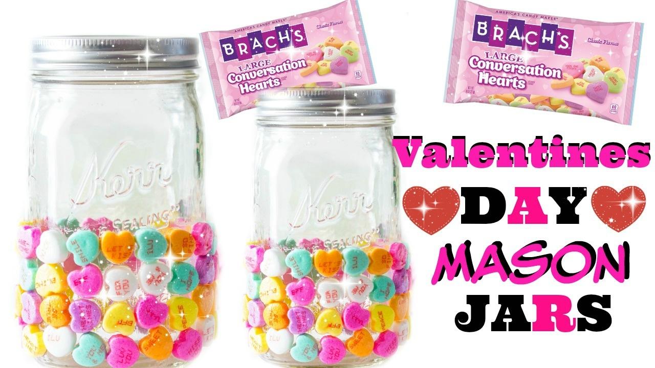 Valentines Day Mason Jar Diy Mason Jar Diy Candy Mason Jar Diy Youtube