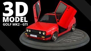 VW Golf MK2 GTI -- 3D Model | Tlatso-Son