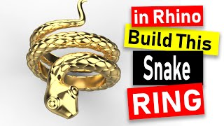 Snake Ring Design 3D Modeling In Rhino 6 Jewelry CAD Design Tutorial 97