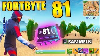 Fortnite Fortbyte 81 🔑 Cacti Mountain | All Fortbyte Places Season 9 Utopia Skin English