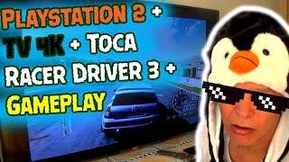 Playstation 2 + TV 4K + Toca Racer Driver 3 + Gameplay.