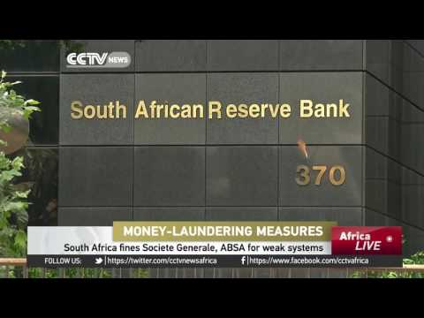 Societe Generale, Absa fined in S. Africa for weak anti-money laundering systems
