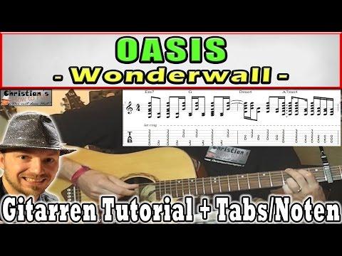 ★Oasis WONDERWALL Gitarren Tutorial