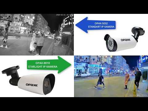 OPAX-9010 2MP IP Starlight Kamera ile OPAX-5032 2MP Standart Gece Görüşlü IP Kamera Karşılaştırması