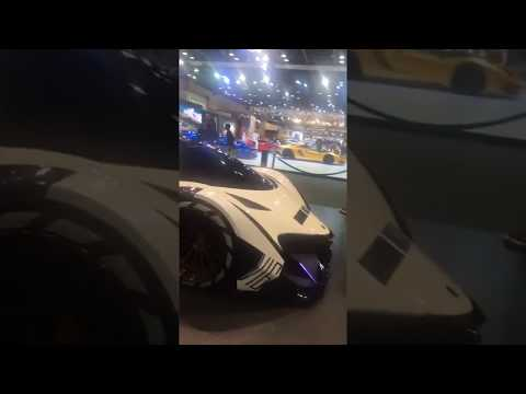 Devel Sixteen 5000hp prototype @dubai motor show 2017