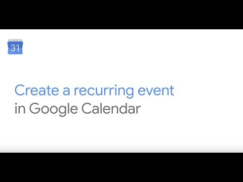 How To: Create a recurring event in Google Calendar