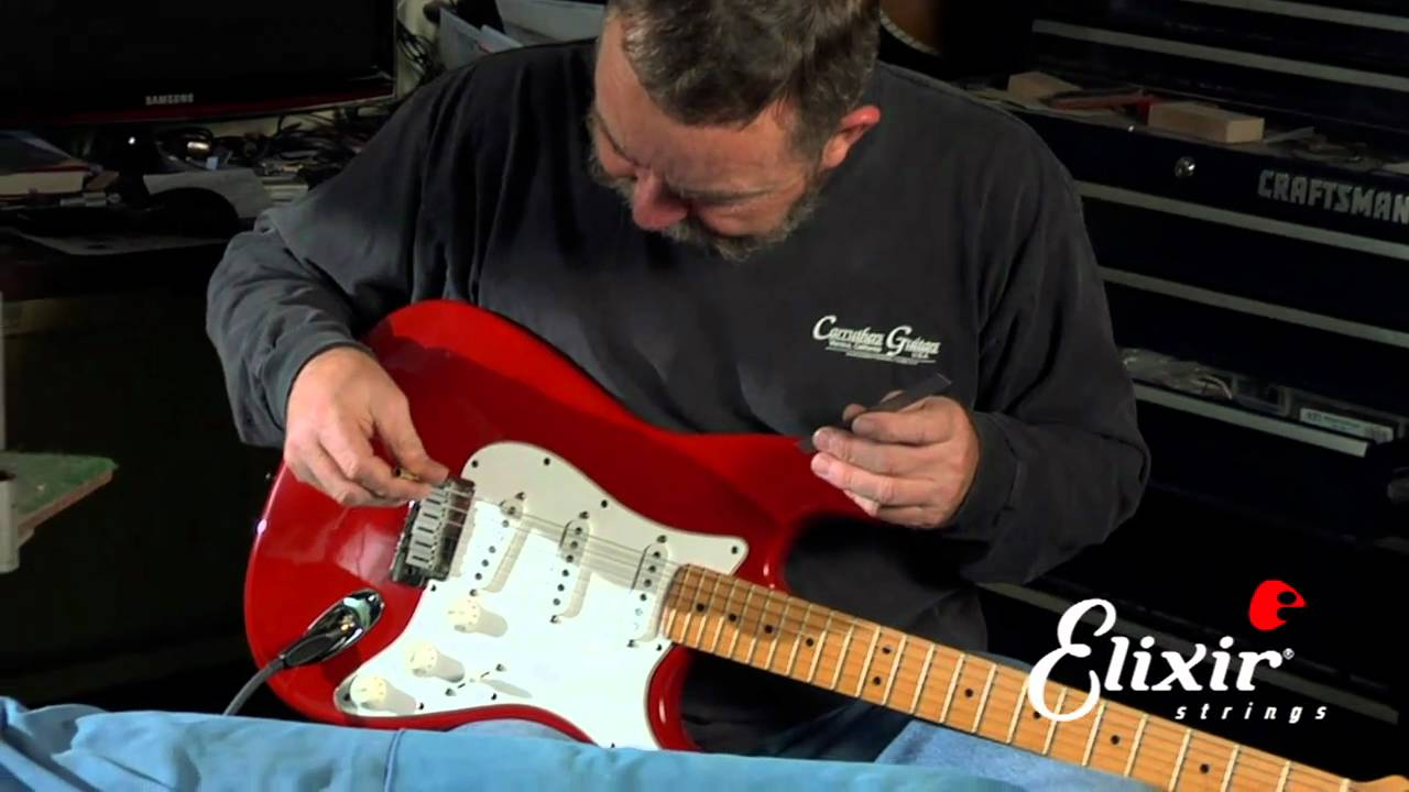 Setting Up Your Stratocaster Guitar Bridge Action Height Adjustment