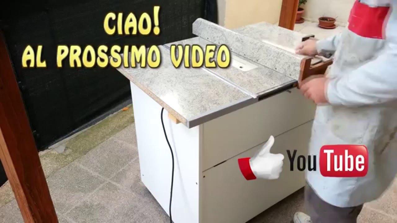 Banco squadra fai da te youtube for Dima per spine legno fai da te