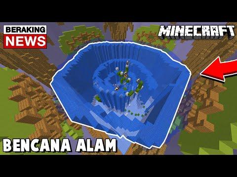 MEMBUAT TORNADO DARI AIR YANG MENGHANCURKAN PERTANDINGAN - Minecraft Build Battle #48