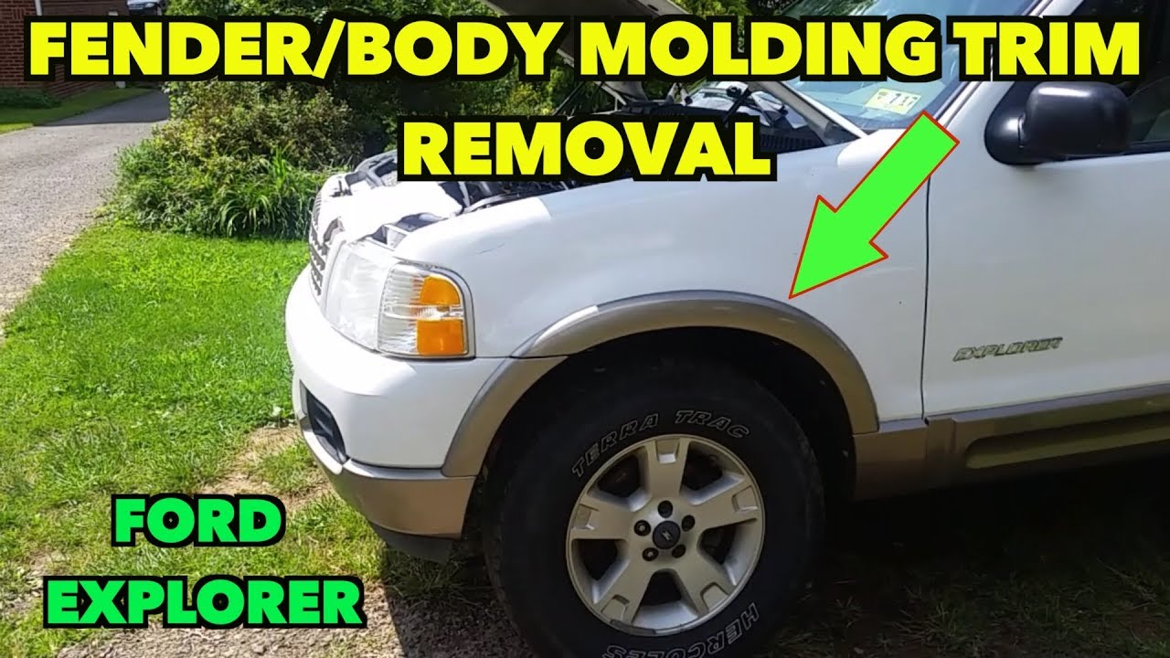 hight resolution of fender body molding trim removal ford explorer 2002 2005