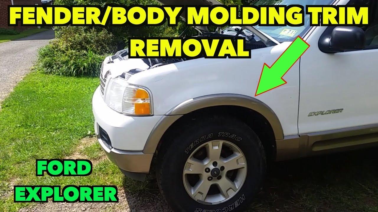 Fender Body Molding Trim Removal Ford Explorer 2002 2005 Youtube
