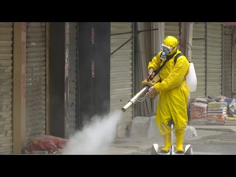 Disinfection at Wuhan's old town complex amid the coronavirus epidemic