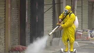 On the Scene   Disinfection at Wuhan's old town complex amid the coronavirus epidemic