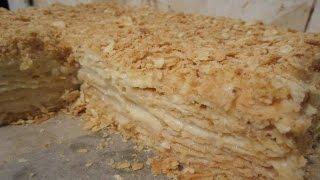 Торт наполеон классический. (рецепт с фото)
