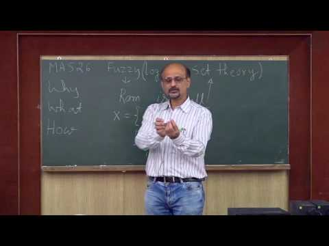 Introduction to Fuzzy sets- Lecture 01 By Prof S Chakraverty