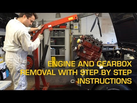 Engine And Gearbox Removal From An MGB With Step By Step Instructions
