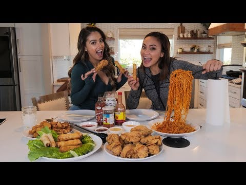Fried Chicken and Spicy Noodles MUKBANG with Lais DeLeon and Karate Hottie