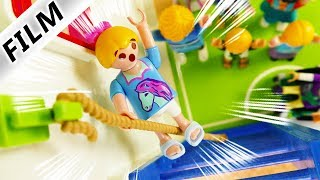 Playmobil Film Deutsch HANNAH FÄLLT VOM SEIL BEIM SPORT! KANN PHILLIP SIE RETTEN? Familie Vogel
