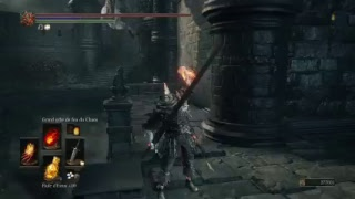 Dark souls3 defeat the boreal outrider through the wall