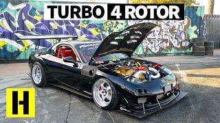 Savage 1000hp Turbo Four Rotor RX-7 Sounds Like an Angry F1 Car