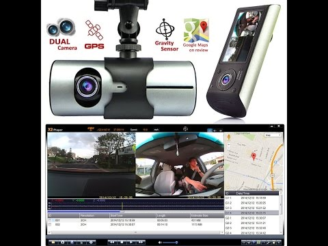 Indigi HD Dash-Camera with Dual Lens DVR and GPS Navigation