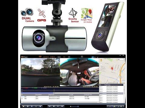 Indigi HD Dash-Camera With Dual Lens DVR And GPS Navigation