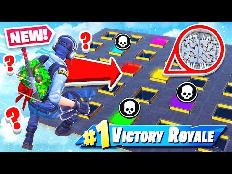 CHOOSE the WRONG HOLE, YOU LOSE! *NEW* Game Mode in Fortnite Battle Royale