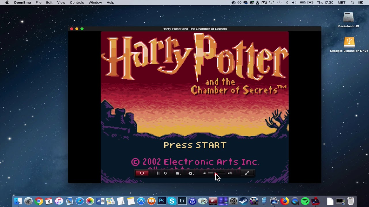 play harry potter and the chamber of secrets on mac