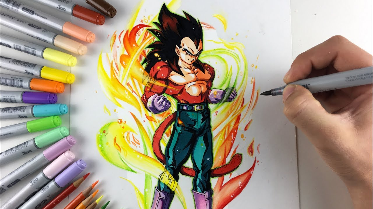drawing vegeta ssj4 youtube